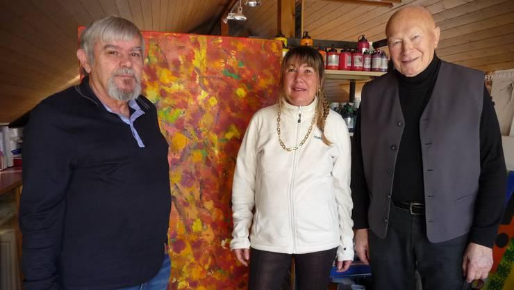 Von links: Erwin Strausak, Isabella Galli und Bruno Ischi.