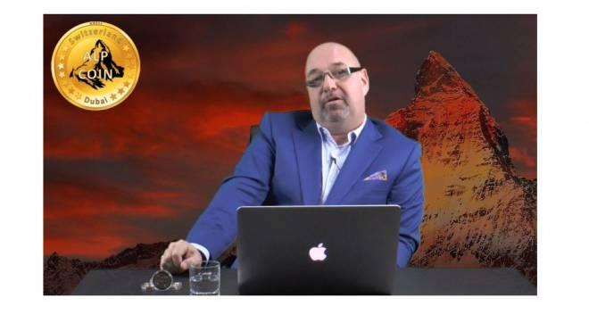 Patrick Ruegsegger, Begründer der AlpCoins, erzählt in einem Youtube-Film, wie das angeblich lukrative Direktvertriebssystem funktioniert. Foto: Screenshot