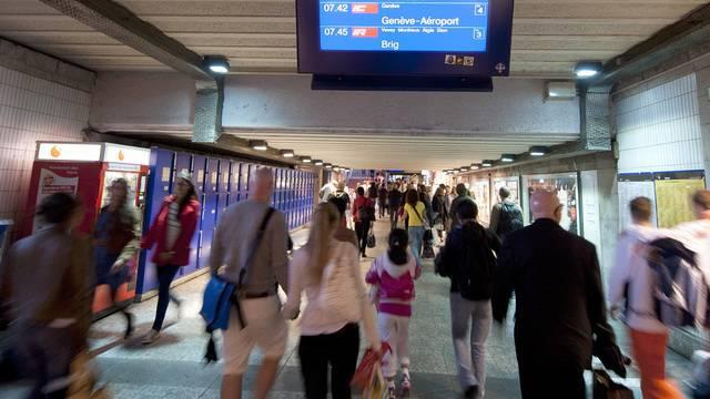 Unterführung am Bahnhof Lausanne (Archiv)