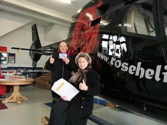 Überraschende Führung bei Roseheli, AIRleben Sie die Rose!