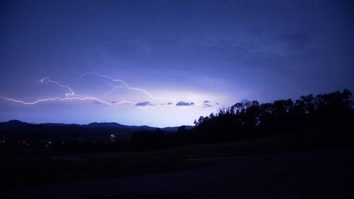 25'000 Blitze: Heftige Gewitter zogen über die Schweiz