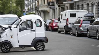 Die Enuu Elektromobile dürfen in Zürich weiterhin angeboten werden, allerdings nicht mehr so viele wie bisher. (Archivbild)