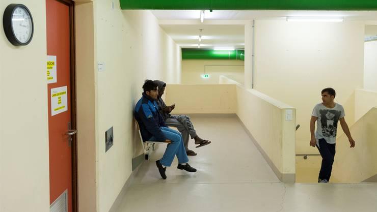 Flüchtlinge im Spital Muri, dessen geschützte Operationsstelle temporär als Asylzentrum diente. (Archiv)