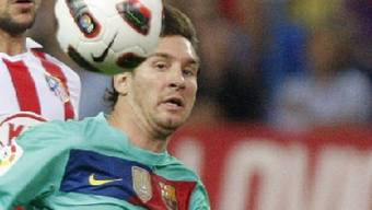 Barcelonas Lionel Messi gab sein Comeback