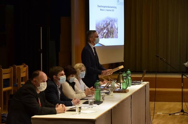Gemeindeammann Markus Bircher hob die Vorteile des Zukunftsraums nochmal hervor.