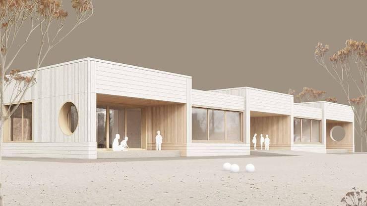 So soll das Gebäude für die Kindergärten Steinmürli I und II einmal aussehen.