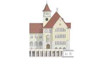 Erweiterung des Schulhauses Stapfer: So präsentiert sich der Vorschlag des Brugger Büros Liechti Graf Zumsteg Architekten. Liechti Graf Zumsteg Architekten/zvg