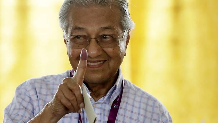Zurück an der Macht: Wahlsieger Mahathir Mohamad.