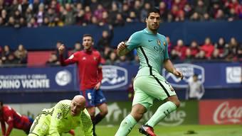 Eröffnete in Pamplona das Skore für Barcelona: Luis Suarez