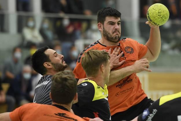 David hat Goliath nicht bezwungen: Der TV Möhlin (NLB) unterliegt dem TSV St. Otmar St. Gallen (NLA) diskussionslos mit 19:34.