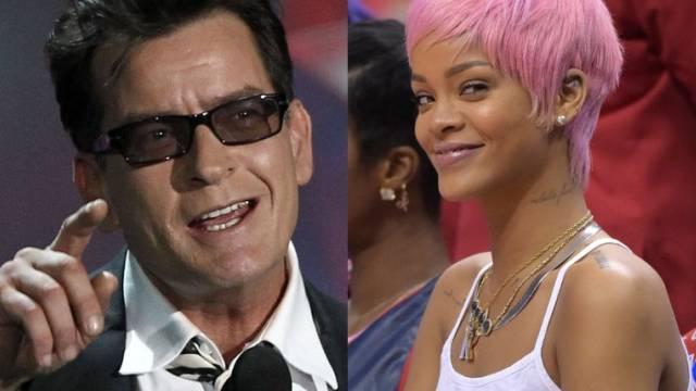 "Charlie Sheen belehrt ""Dorftrottel"" Rihanna (Archiv)"