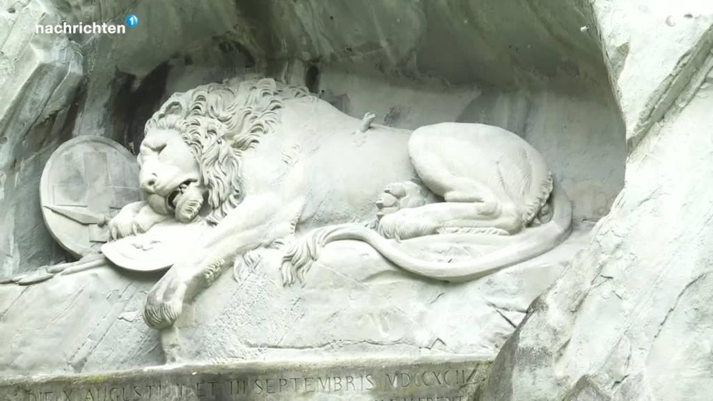 Das Luzerner Löwendenkmal wird 200 Jahre alt