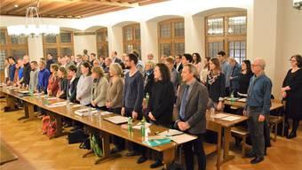 Inpflichtnahme der Mitglieder des Einwohnerrats: Die konstituierende Sitzung findet im Rathaussaal statt.