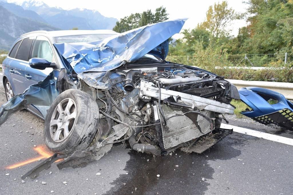 Unfälle bei Landquart (© Kapo GR)