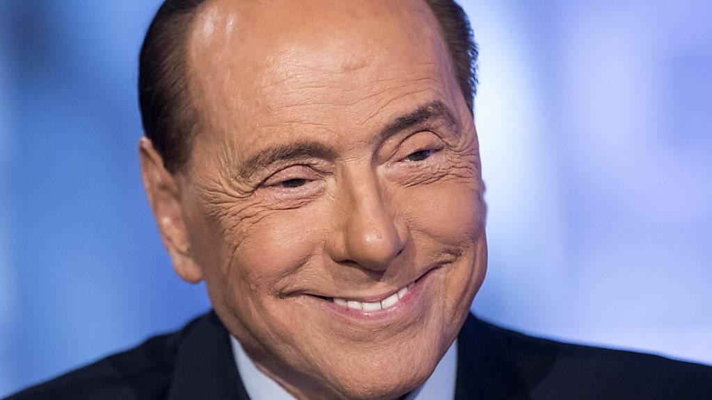 Italiens früherer Ministerpräsident Silvio Berlusconi bei einem Interview im TV-Programm von «L'aria che tira».