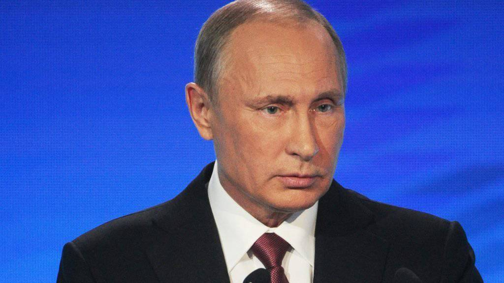 Der russische Präsident Wladimir Putin kündigt Statut des Haager Strafgerichtshofs. (Archiv)