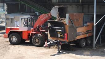 Ab in den Fermentierer: Das Grüngut wird auf dem Areal der Hägeli-Brügger AG weiterverwendet.  nbo