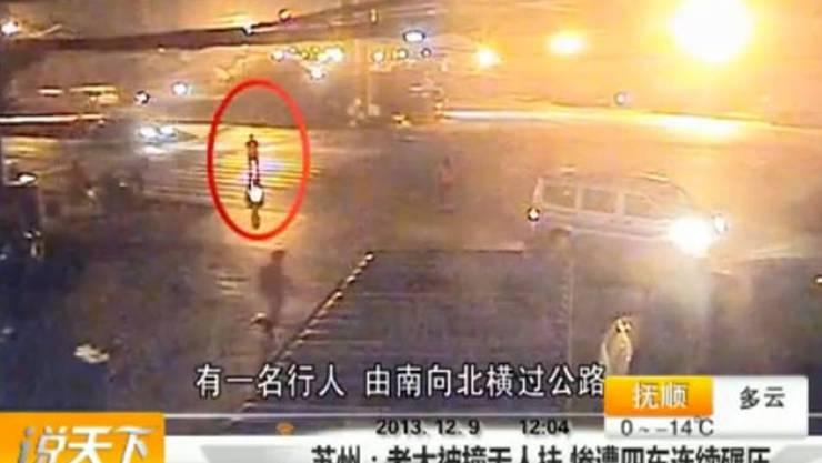 Standbild aus dem Überwachungsvideo der chinesischen Polizei.