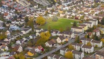 Von der grünen Ortsbürgerparzelle befindet sich ein Viertel in der Bauzone.