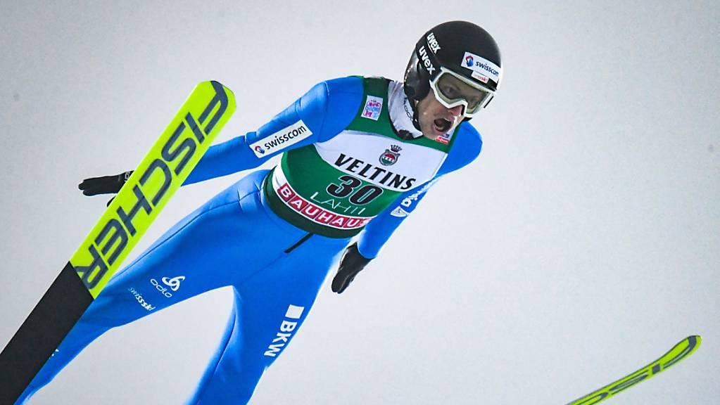 Solide Sprünge im Nebel von Lahti, aber kein Exploit: Gregor Deschwanden holte nach vier schlechten Wettkämpfen als 26. wieder einmal Punkte.