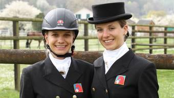 Wollen auch an internationalen Turnieren gross auftrumpfen: Simona (links) und Carla Aeberhard.