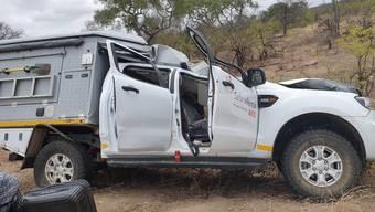 Schweizer bei Autounfall mit Giraffe in Südafrika verletzt
