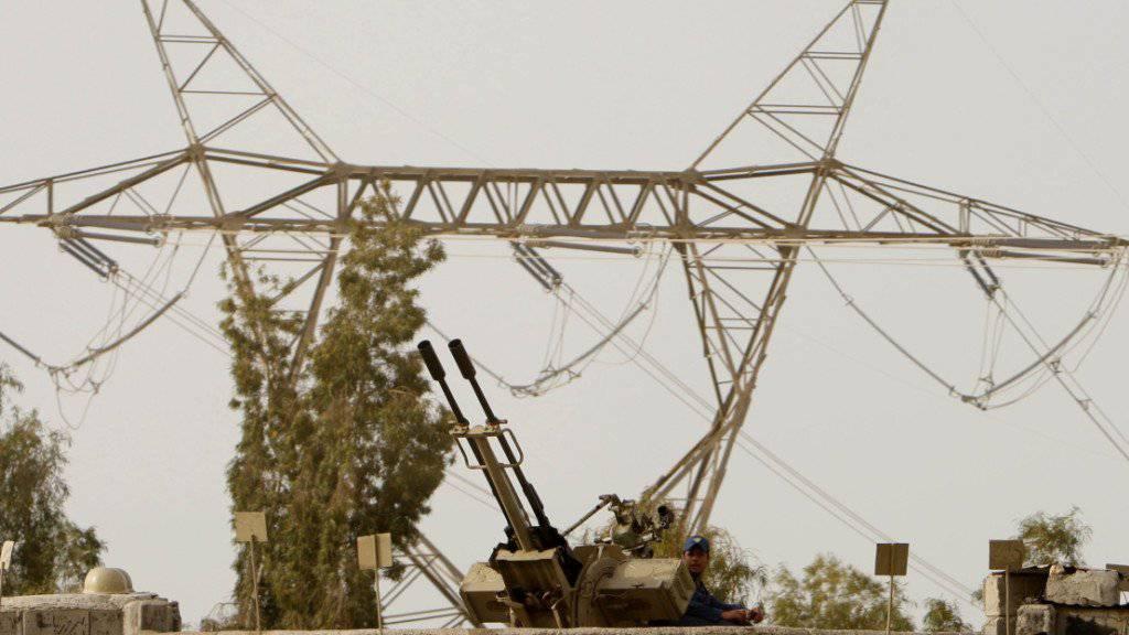 Abwehrhaltung in den USA: Blick auf eine Verteidigungsstellung vor dem iranischen Atomkraftwerk Buschehr. (Archivbild)