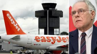 Easyjet liess alt Bundesrat Moritz Leuenberger in Toulouse sitzen. Auf eine Entschädigung wartet er immer noch.