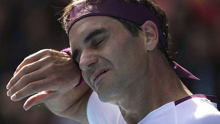 Roger Federer hatte gegen Tennys Sandgren zu leiden