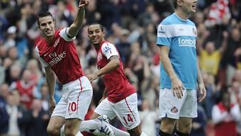 Van Persie traf zweimal für Arsenal