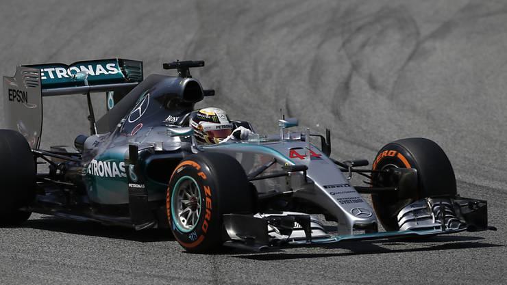 Lewis Hamilton war Schnellster im ersten Training