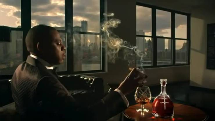US-Rapper Jay-Z bewirbt seine eigene Cognac-Marke.