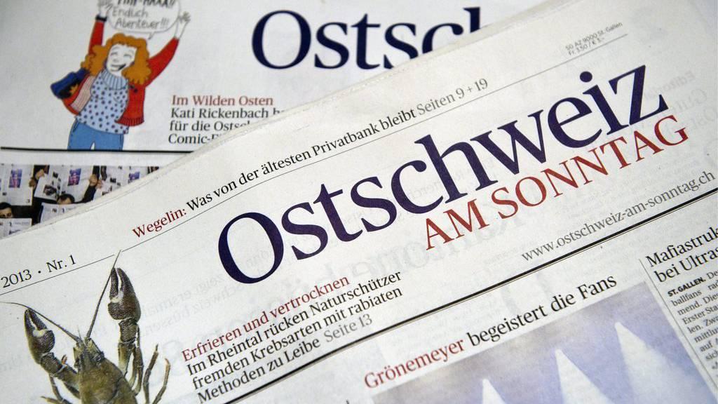 Wird es so bald nicht mehr geben: Die Ostschweiz am Sonntag wird nicht mehr gedruckt.