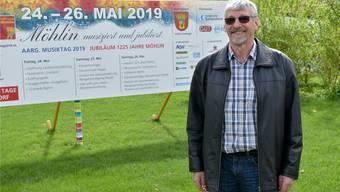Max Leemann hofft, dass die Möhliner Bevölkerung am kantonalen Musiktag Ende Mai mitfeiert. nbo