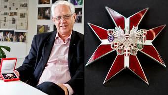 Klaus-Jörg Dogwiler mit dem Grossen Ehrenkreuz. (psi)