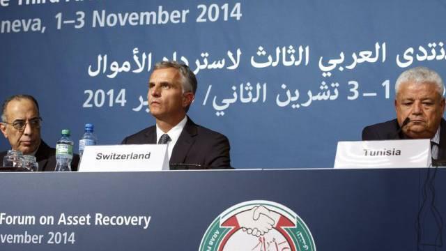 Burkhalter mit Justizministern Ägyptens und Tunesiens