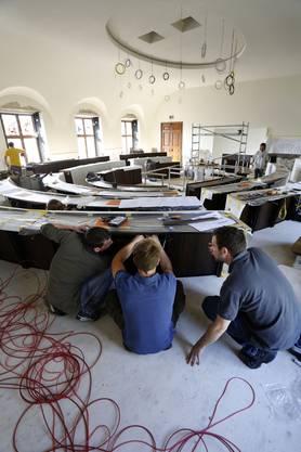 Einblick in die Umbauarbeiten des Kantonsratssaals