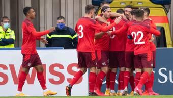 Jubel über die Qualifikation für die Schweizer U21.