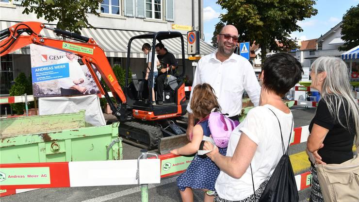 Der parteilose Andreas Meier setzte auf den Baggerspass für die Kinder.
