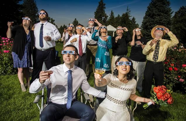 Während einer Hochzeit in Washington.