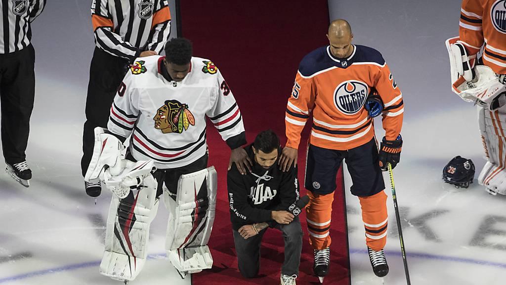 NHL beginnt Playoffs mit politischer Note