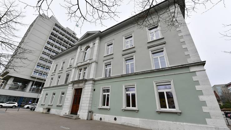 Die zukünftige Nutzung des Schulhaus Hübeli in Olten in der Innenstadt ist derzeit offen.
