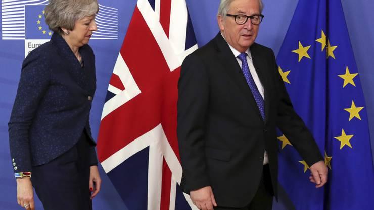 Gemeinsames Ziel: EU-Kommissionschef Jean-Claude Juncker und die britische Premierministerin Theresa May wollen ein Brexit-Chaos abwenden.
