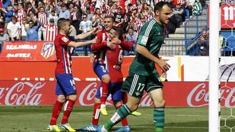 Der französische Internationale Antoine Griezmann traf bei Atleticos 5:1-Heimsieg gegen Betis Sevilla zweimal