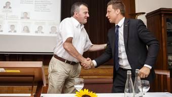 Der alte Haudegen und der Jungstar. Walter Wobmann und Christian Imark wollen es bei den Wahlen wieder zusammen packen.