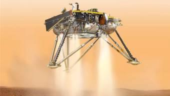 Am Montag, 26. November, soll sie auf dem Mars landen: Die Sonde Insight.