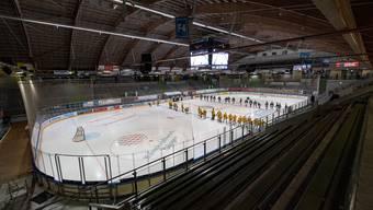 Tristesse im Kleinholz: Der EHC Olten erlebte das Viertelfinal-Aus gegen den SC Langenthal im heimischen Stadion vor leeren Rängen.