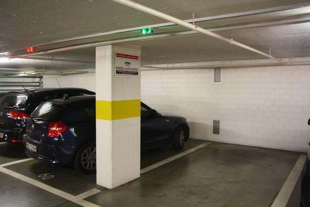 Normalerweise zeigt Grün aber einen freien Parkplatz an