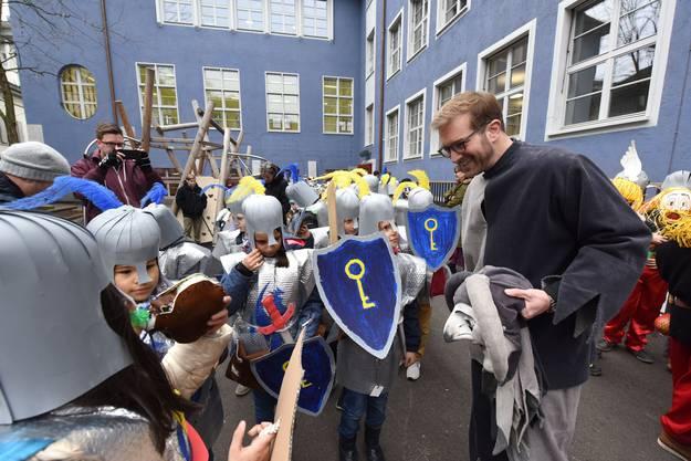 Auch die Ritter waren vom Regierungsrat angetan.