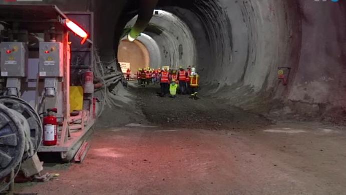 Imposante Grossbaustelle: Der Ruckhalde-Tunnel in St.Gallen